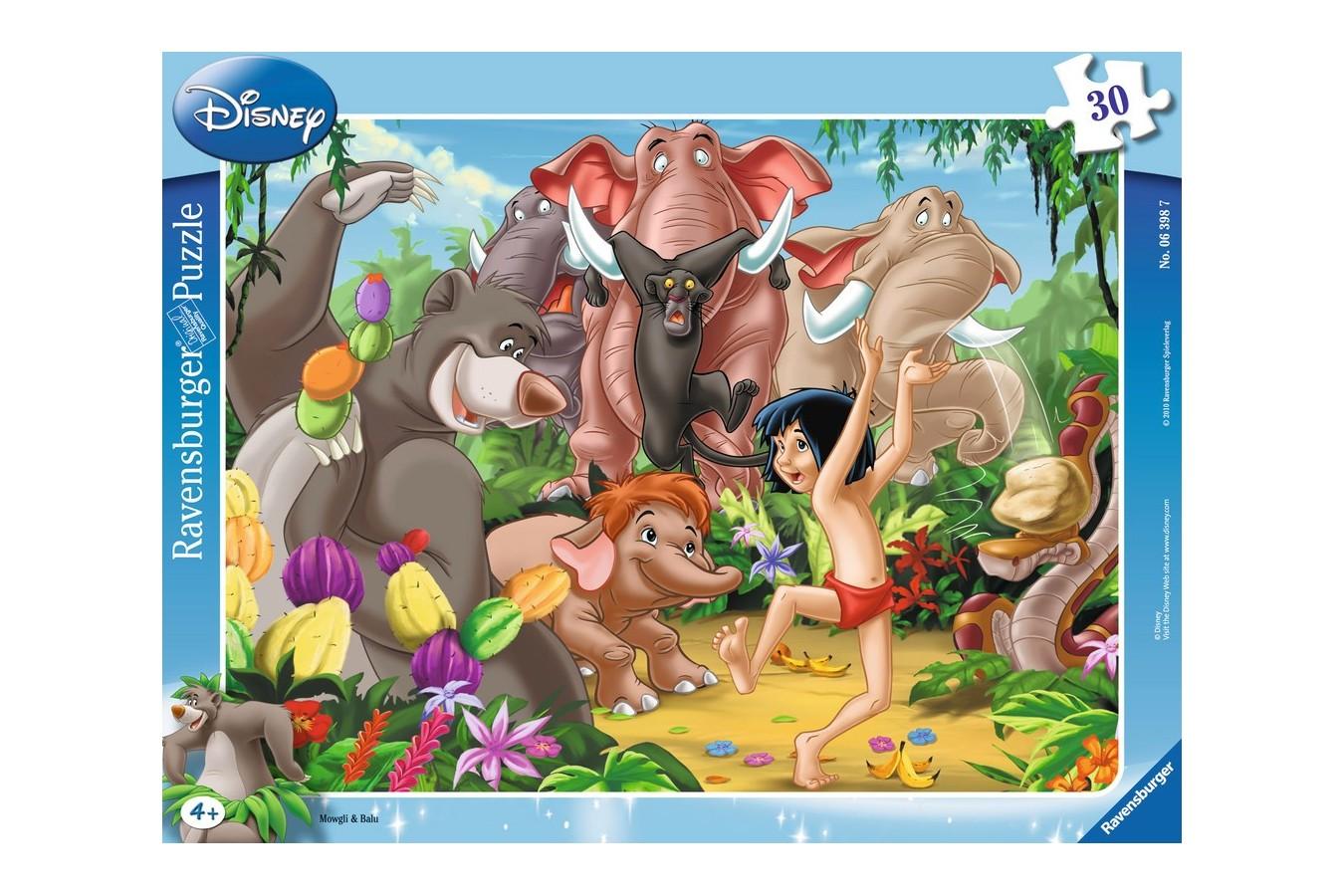 Puzzle Ravensburger - Mowgli Si Baloo, 30 piese (06398)