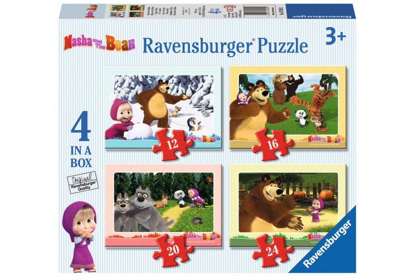 Puzzle Ravensburger - Masha Si Ursul, 12/16/20/24 piese (07028)