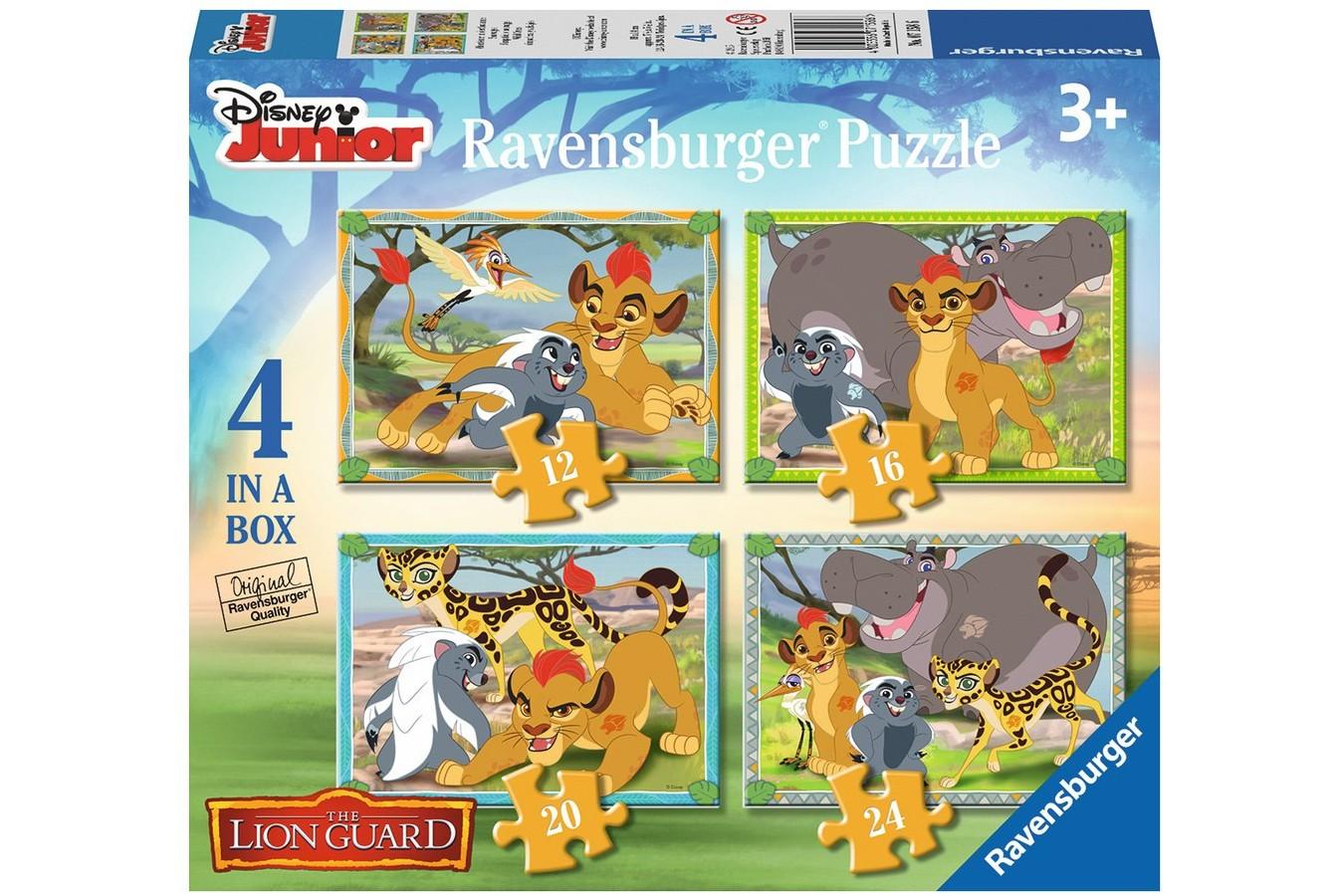 Puzzle Ravensburger - Garda Felina, 12/16/20/24 piese (07158)