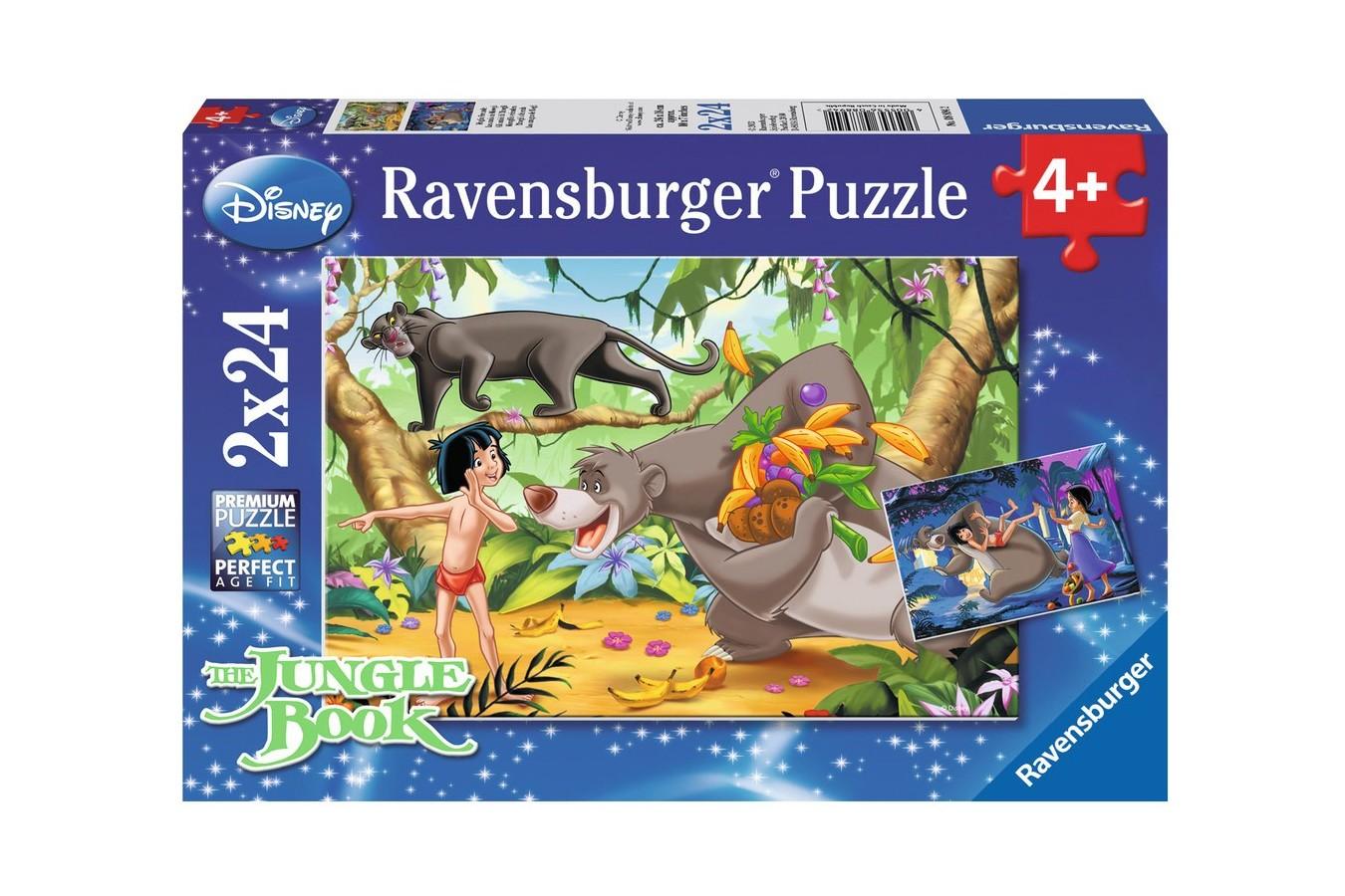 Puzzle Ravensburger - Prietenii Lui Mowgli, 2x24 piese (08894)