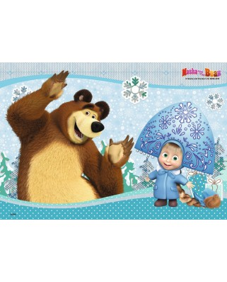 Puzzle Ravensburger - Masha Si Ursul, 2x24 piese (09046)