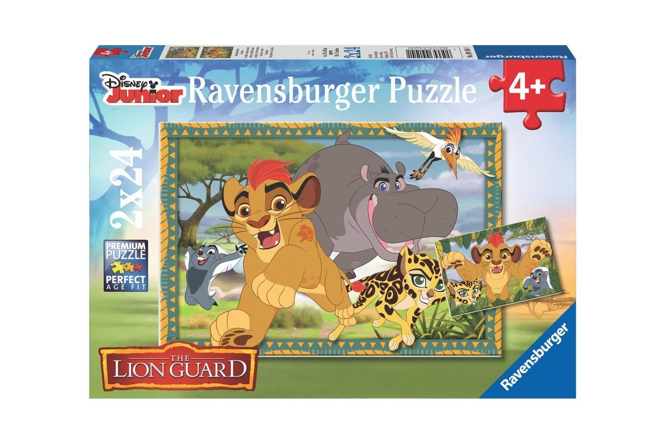 Puzzle Ravensburger - Garda Felina, 2x24 piese (09104)
