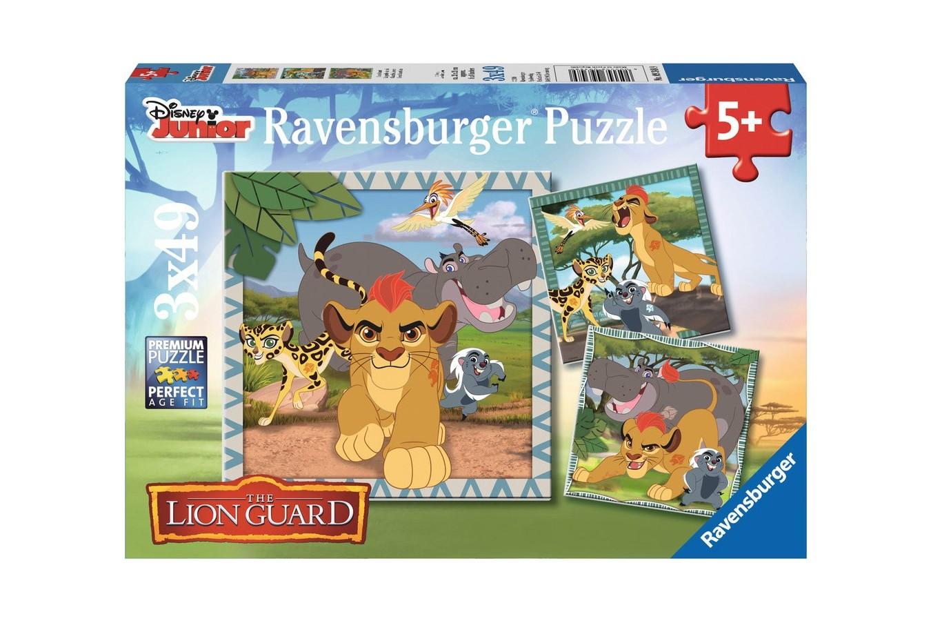 Puzzle Ravensburger - Garda Felina, 3x49 piese (09348)
