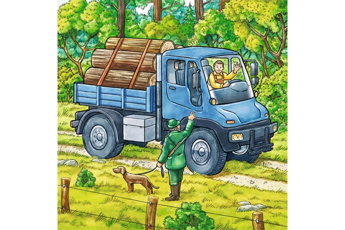 Puzzle Ravensburger - Utilaje Agricole, 3x49 piese (09388)