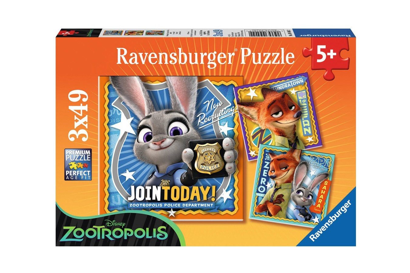 Puzzle Ravensburger - Zootopia, 3x49 piese (09404)