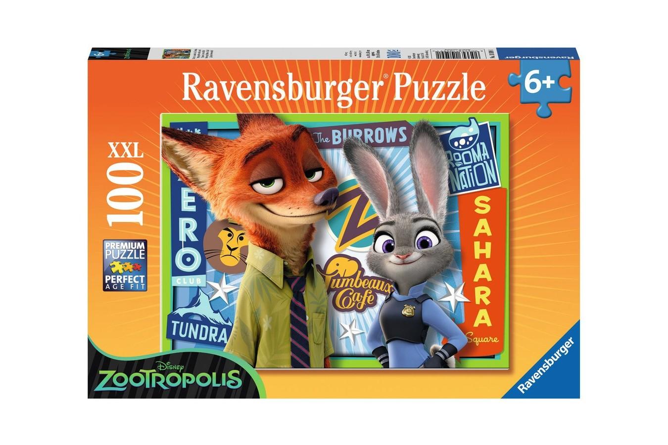 Puzzle Ravensburger - Zootopia, 100 piese (10599)
