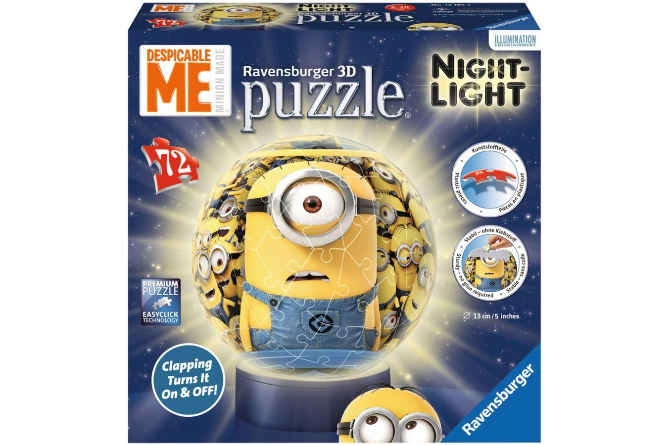 Puzzle glob Ravensburger - Minioni Cu Lumina, 72 piese (12185)