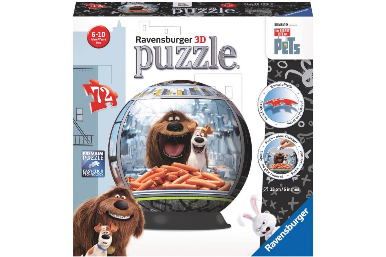 Puzzle glob Ravensburger - Viata Secreta A Animalelor, 72 piese (12192)