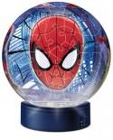 Puzzle glob Ravensburger - Luminos Spiderman, 108 piese (12256)