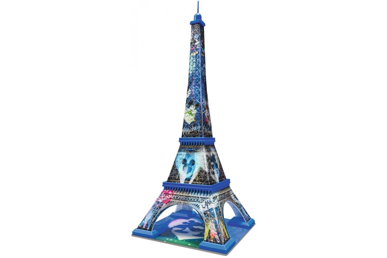 Puzzle 3D Ravensburger - Turnul Eiffel Mickey & Minnie, 216 piese (12570)