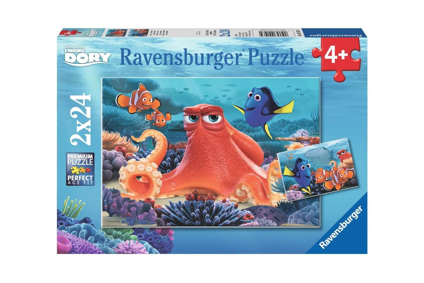 Puzzle Ravensburger - In Cautarea Lui Dory, 2x24 piese (09103)
