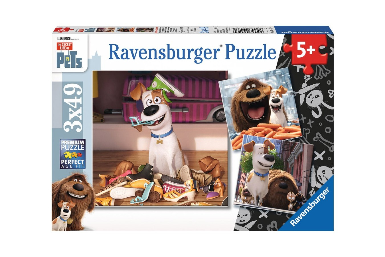 Puzzle Ravensburger - Viata Secreta A Animalelor, 3x49 piese (09413)
