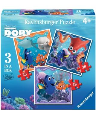 Puzzle Ravensburger - In Cautarea Lui Dory, 25/36/49 piese (06884)