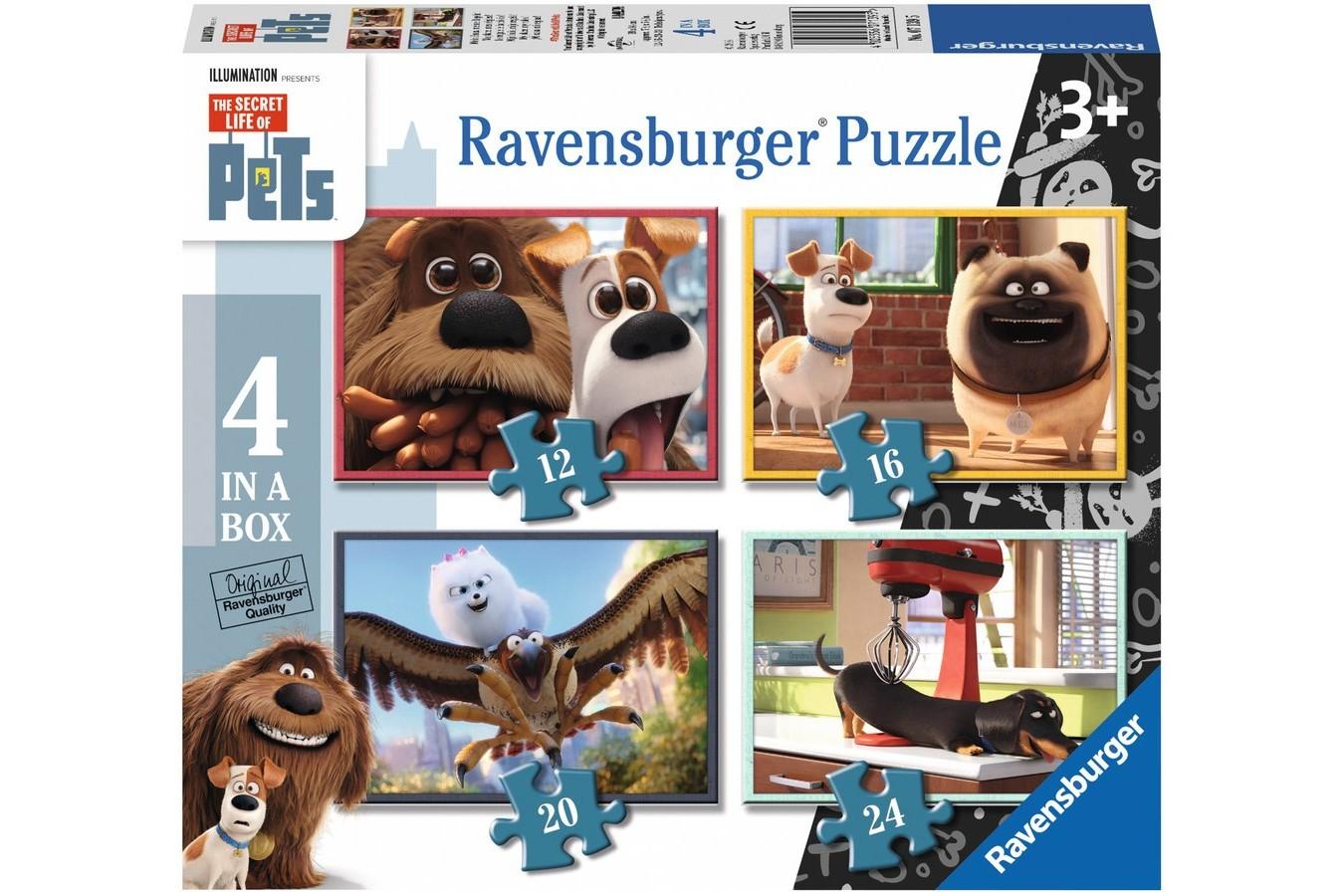 Puzzle Ravensburger - Pets - Singuri Acasa, 12/16/20/24 piese (07139)