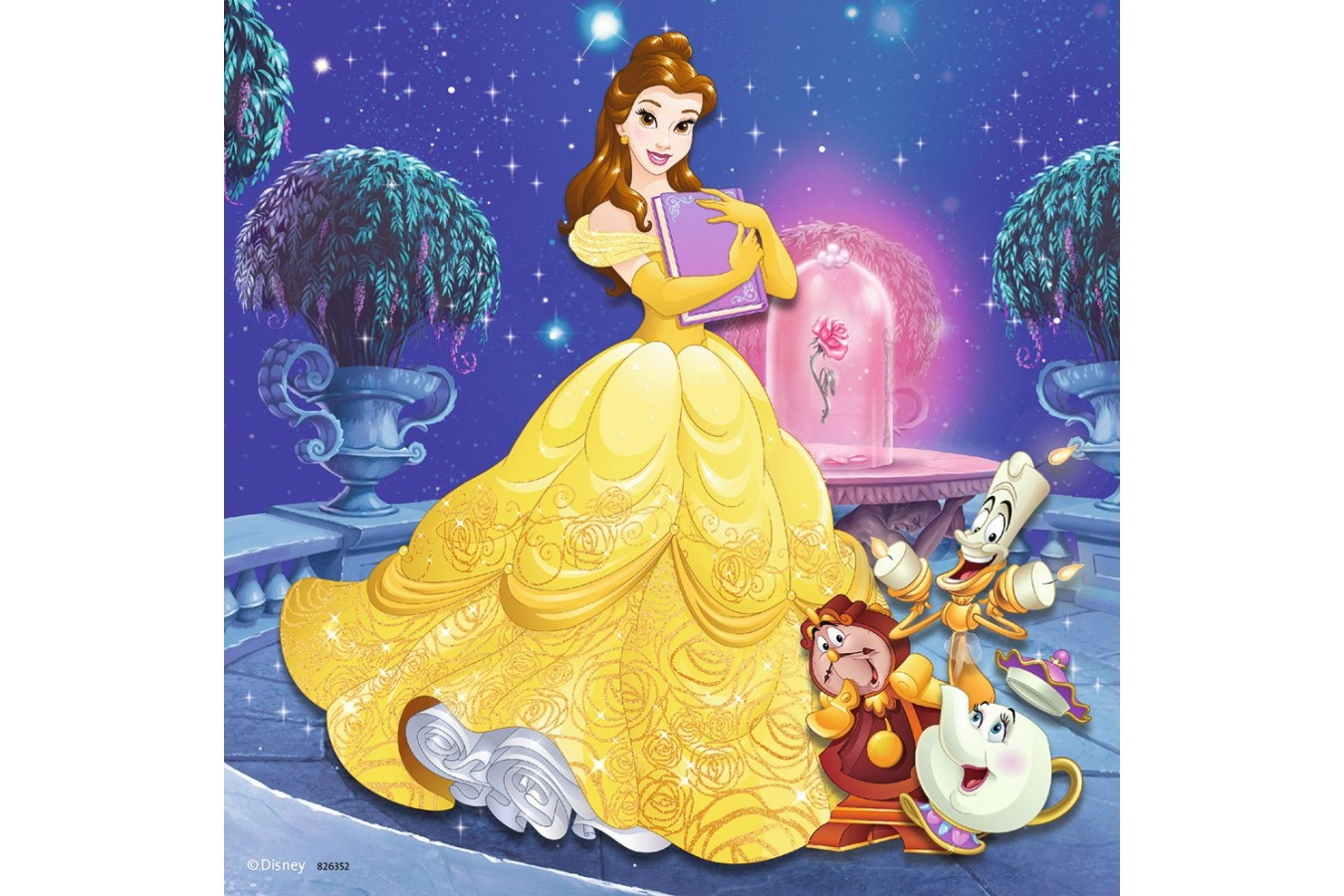 Puzzle Ravensburger - Aventura Printeselor Disney, 3x49 piese (09350)
