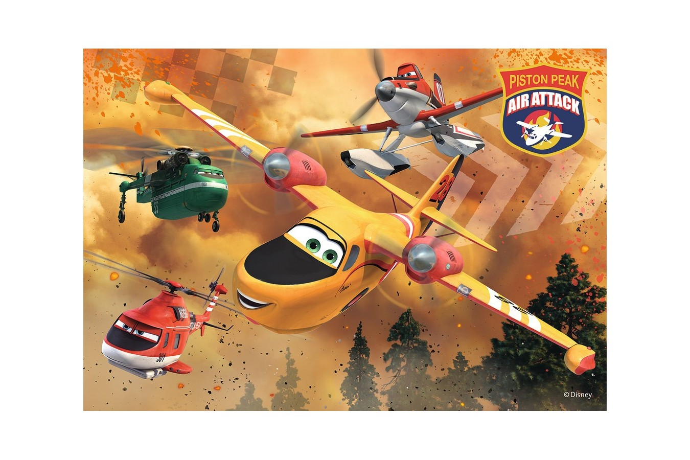 Puzzle Ravensburger - Avioane, 2x24 piese (09084)