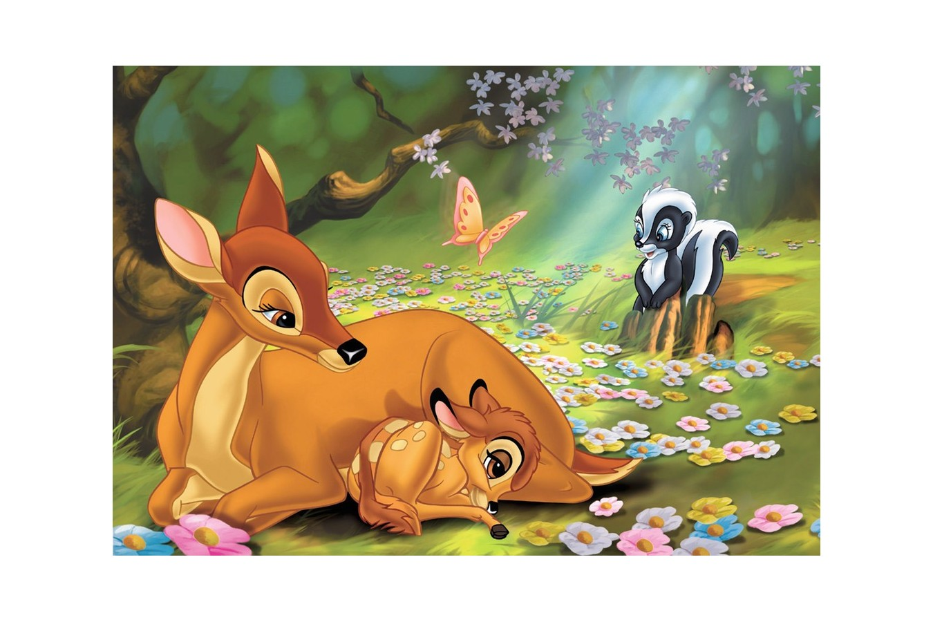 Puzzle Ravensburger - Bambi, 2x24 piese (08852)