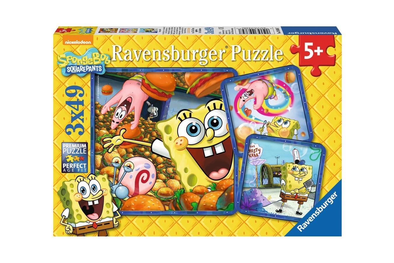 Puzzle Ravensburger - Buretele Bob, 3x49 piese (09384)