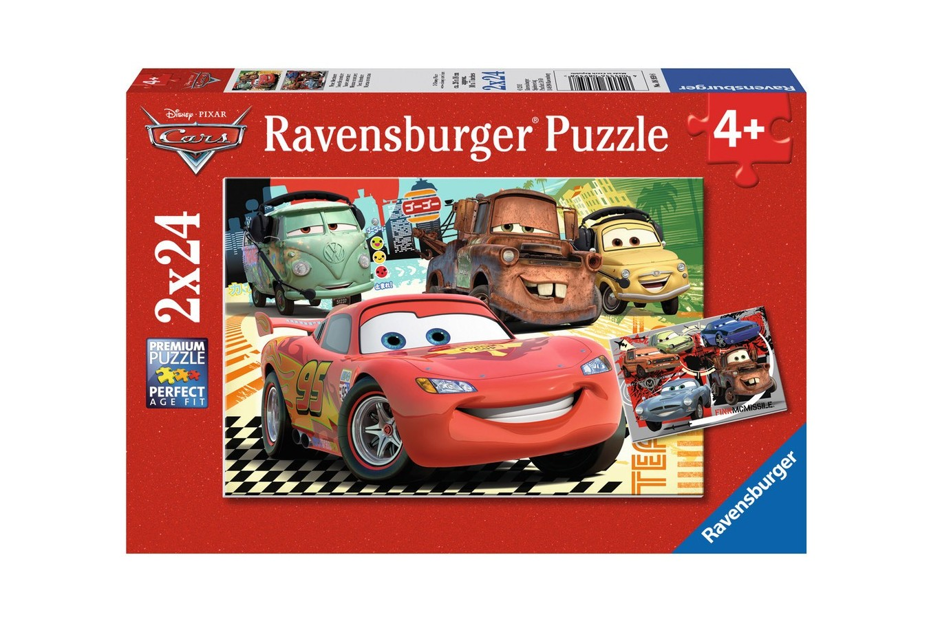 Puzzle Ravensburger - Cars, 2x24 piese (08959)