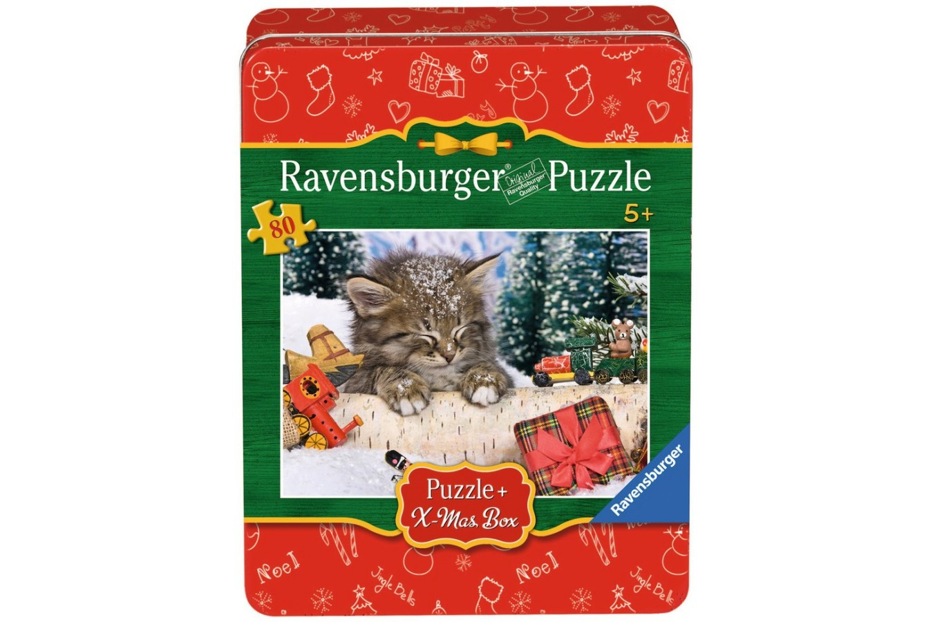 Puzzle Ravensburger - Craciun - Pisicuta In Zapada, 80 piese (07547)