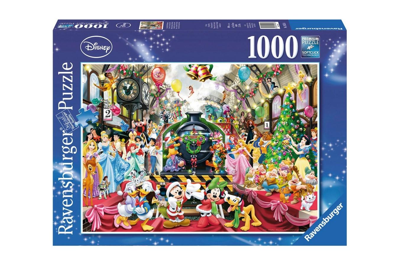 Puzzle Ravensburger - Craciunul In Familia Disney, 1000 piese (19553)