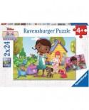 Puzzle Ravensburger - Doctorita Plusica, 2x24 piese (09095)