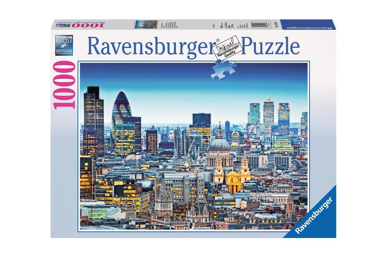 Puzzle Ravensburger - Acoperisul Londrei, 1.000 piese (19153)