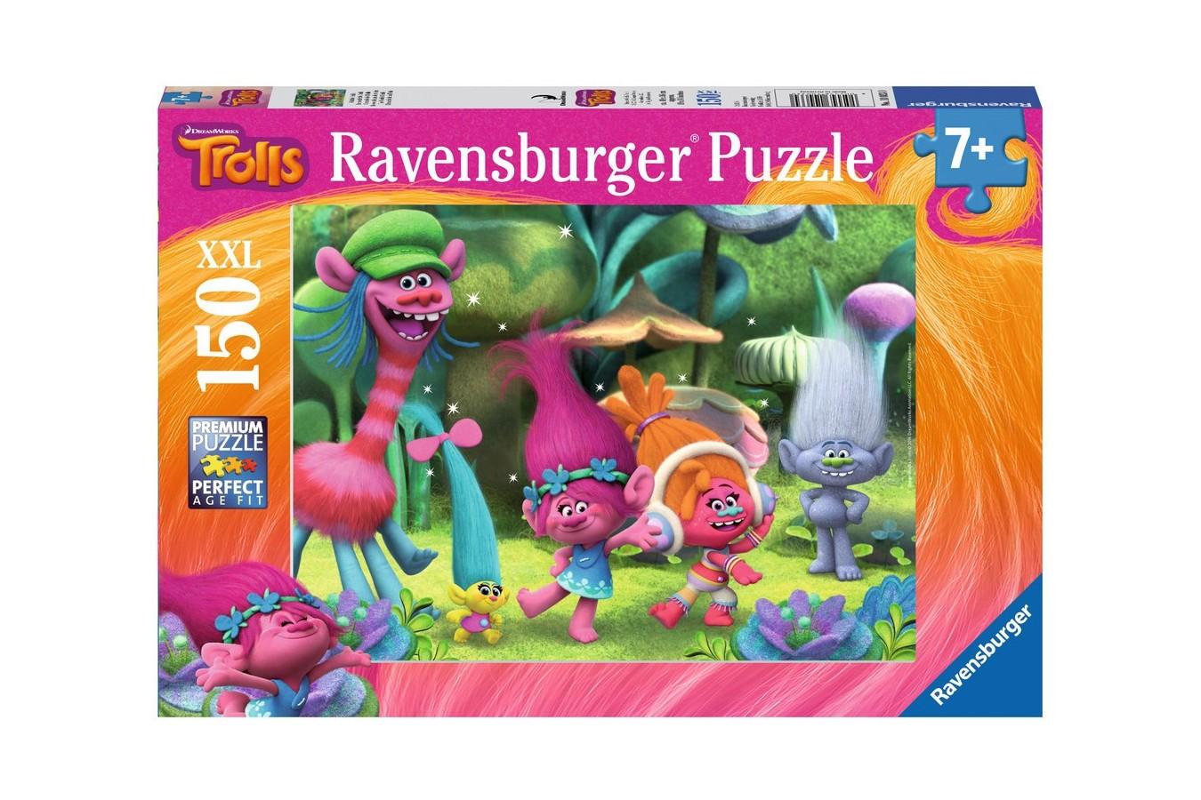 Puzzle Ravensburger - Lumea Trolls, 150 piese (10033)
