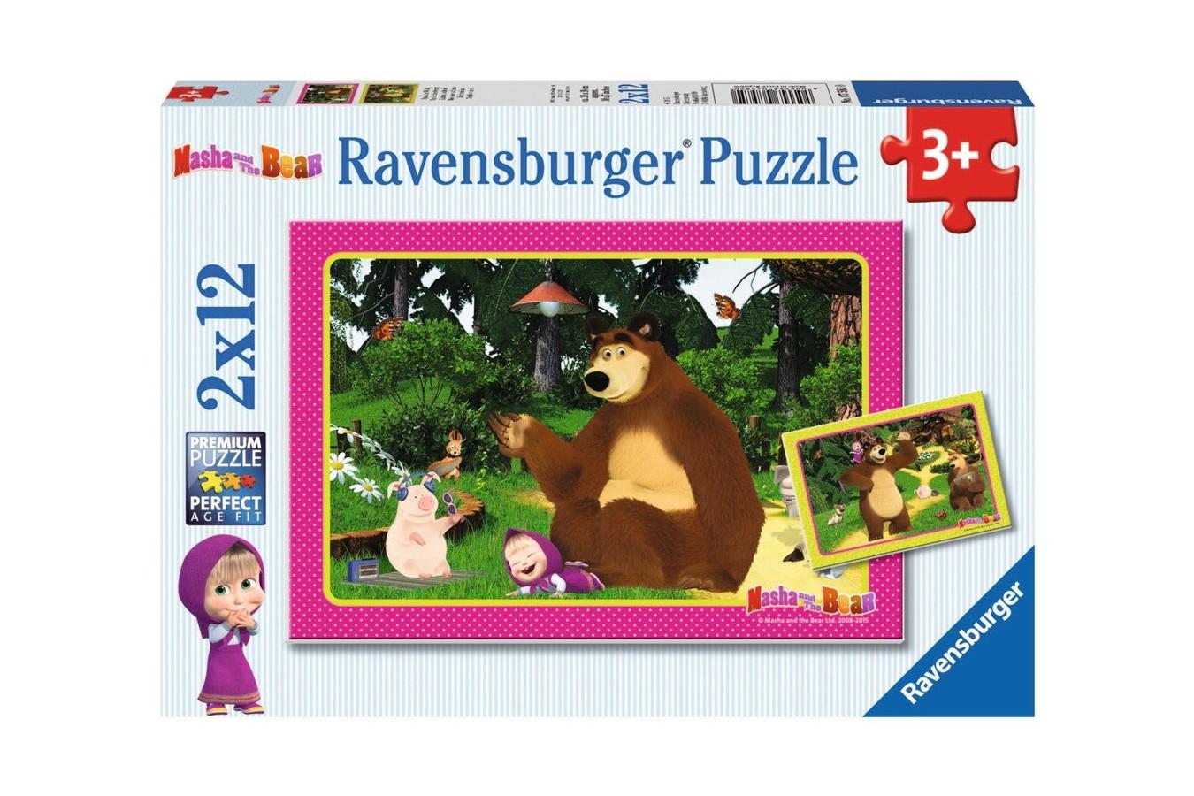Puzzle Ravensburger - Masha Si Ursul, 2x12 piese (07585)