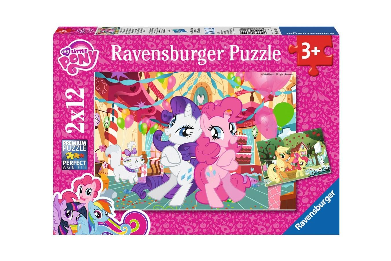 Puzzle Ravensburger - Micul Meu Ponei, 2x12 piese (07600)