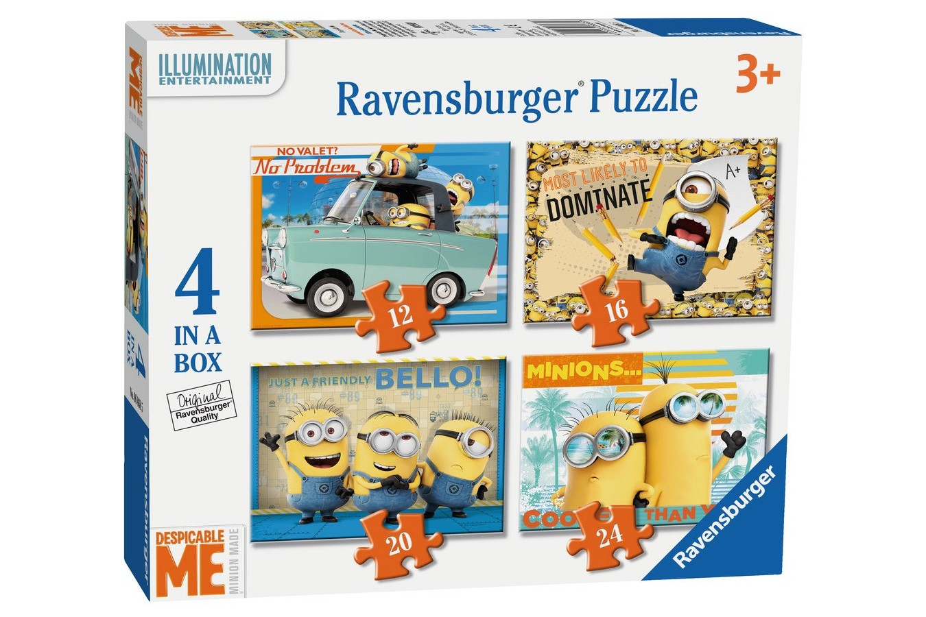 Puzzle Ravensburger - Minioni, 12/16/20/24 piese (06868)