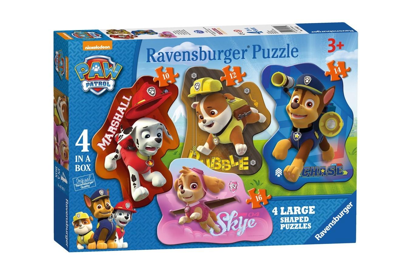 Puzzle Ravensburger - Patrula Catelusilor, 10/12/14/16 piese (07032)