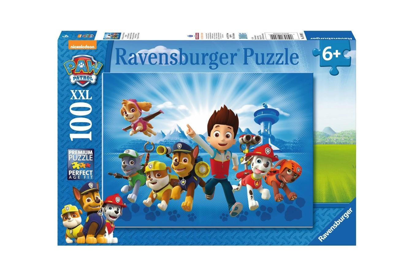 Puzzle Ravensburger - Patrula Catelusilor, 100 piese (10899)