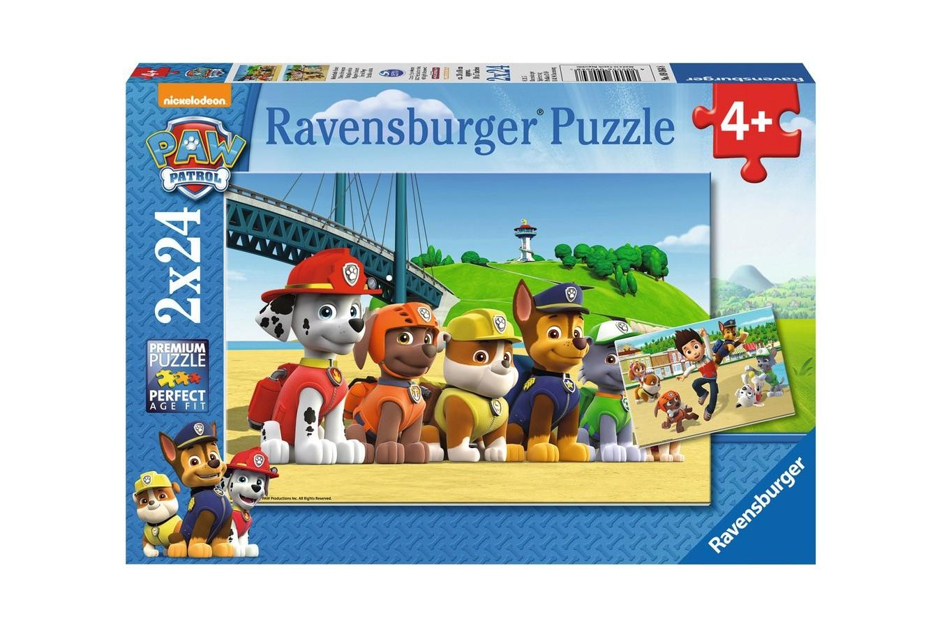 Puzzle Ravensburger - Patrula Catelusilor, 2x24 piese (09064)