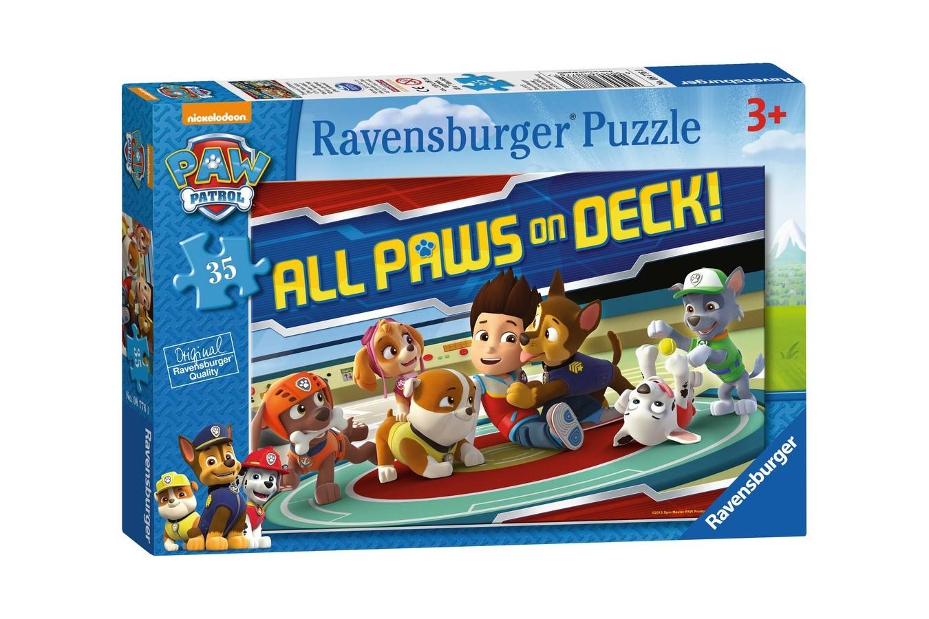 Puzzle Ravensburger - Patrula Catelusilor, 35 piese (08776)