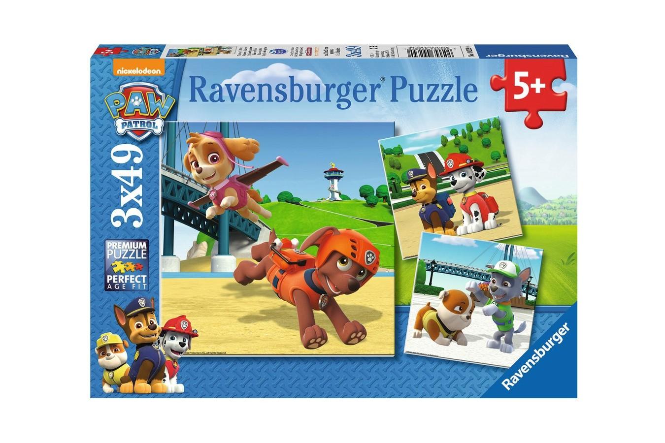 Puzzle Ravensburger - Patrula Catelusilor, 3x49 piese (09239)