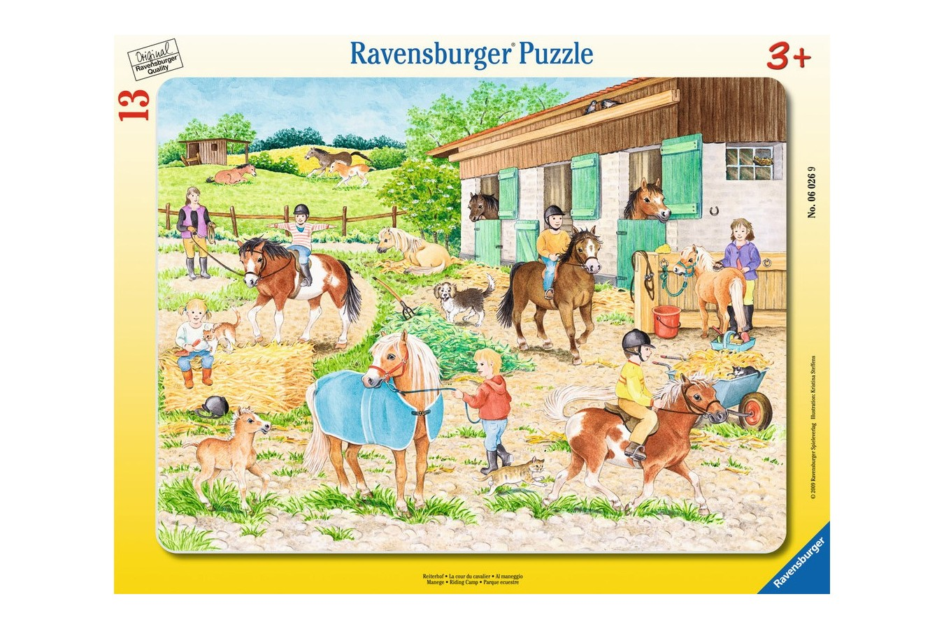 Puzzle Ravensburger - Adapost De Cai, 13 piese (06026)