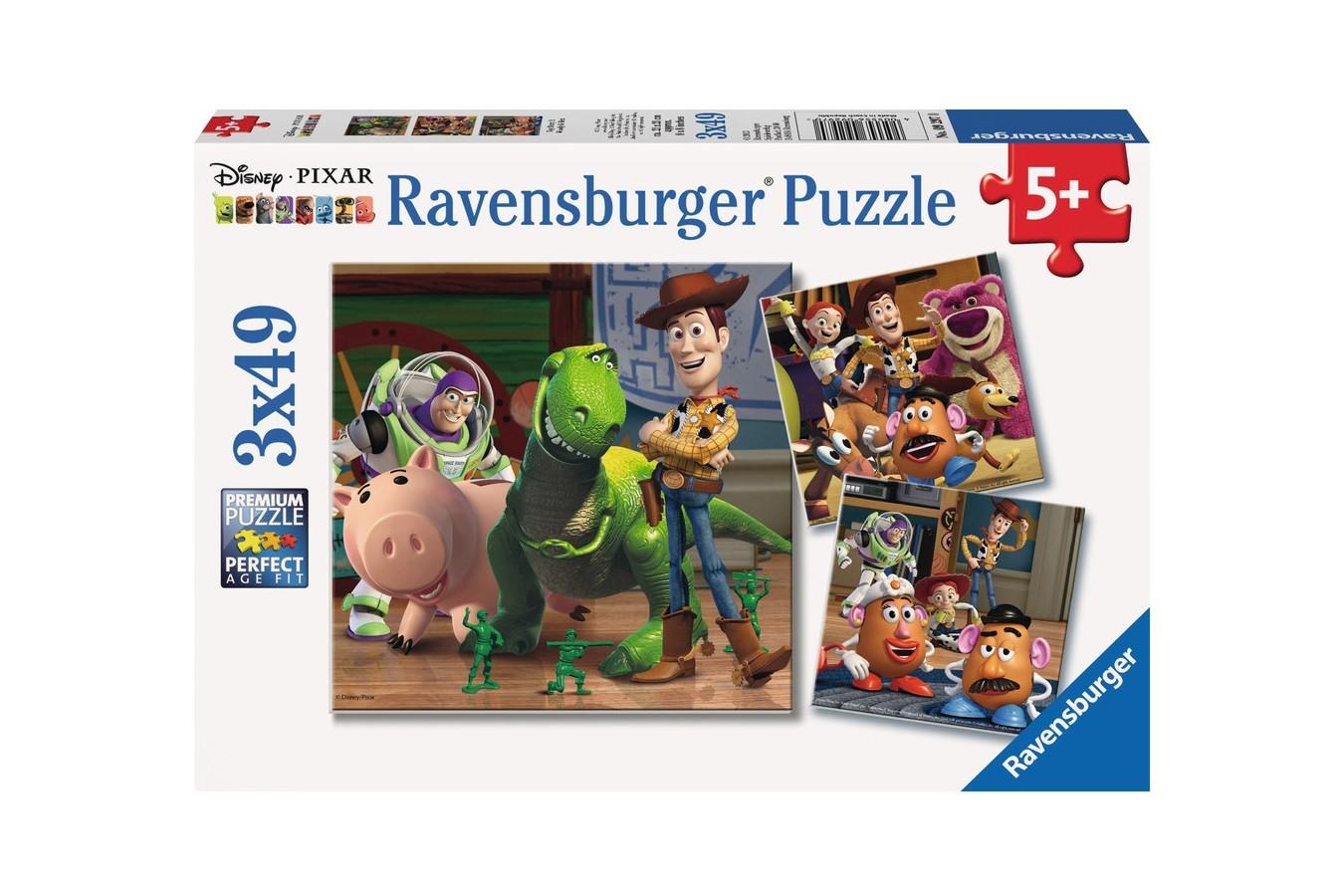 Puzzle Ravensburger - Povestea Jucariilor, 3x49 piese (09297)