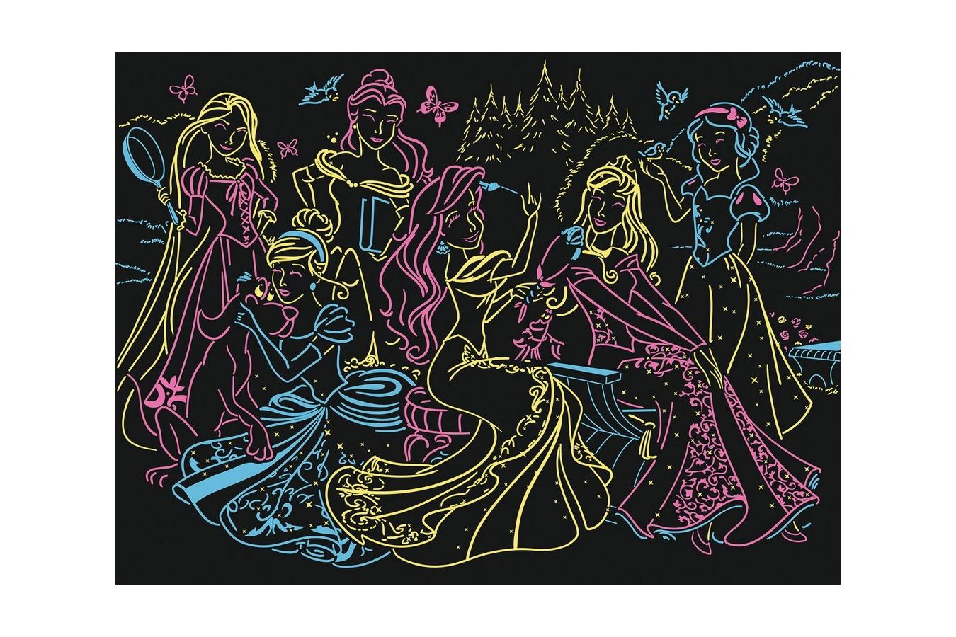 Puzzle Ravensburger - Printesele Disney, 100 piese (13666)