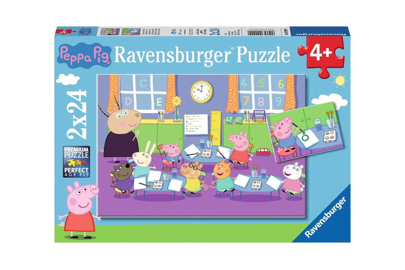 Puzzle Ravensburger - Purcelusa Peppa, 2x24 piese (09099)