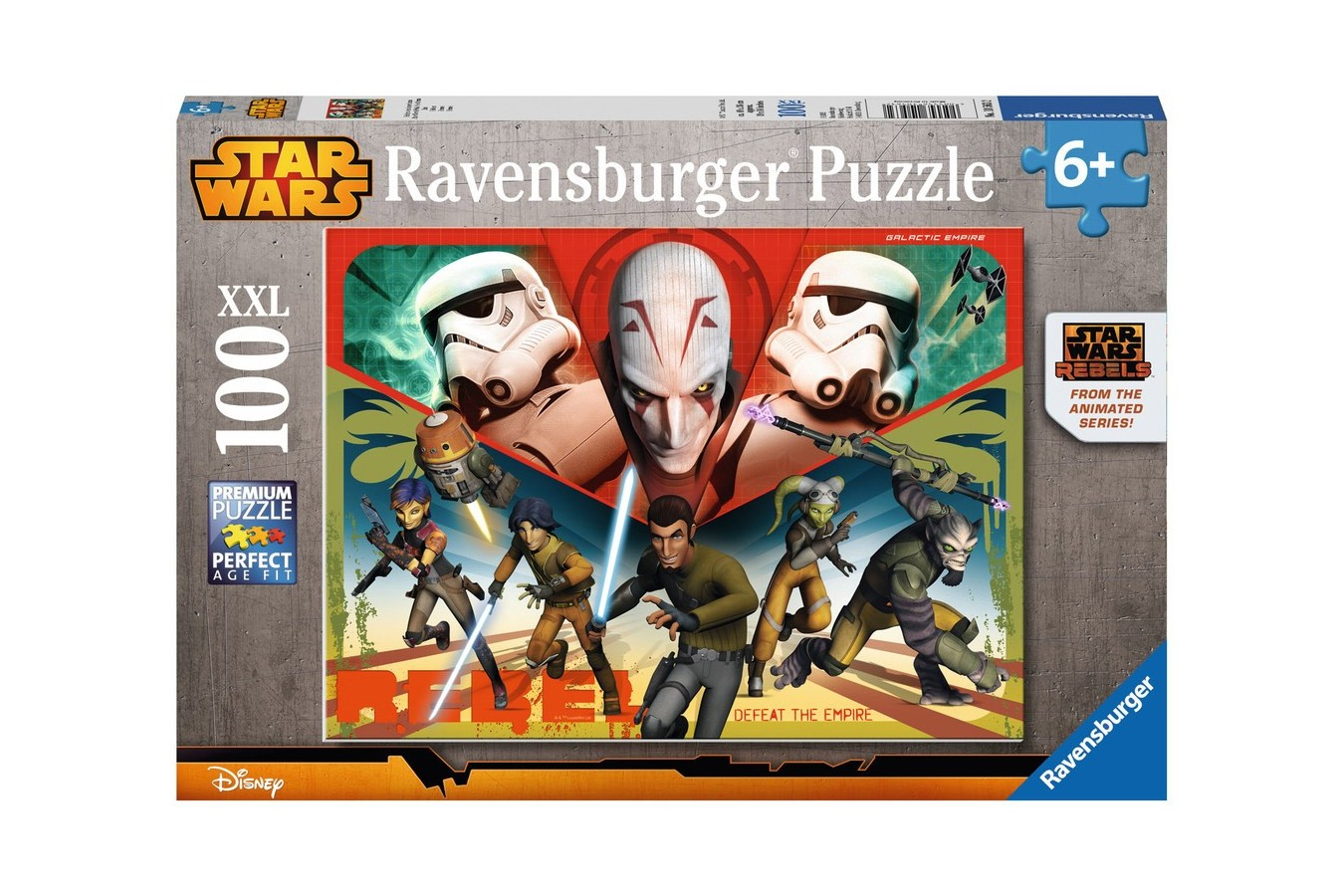 Puzzle Ravensburger - Razboiul Clonelor, 100 piese (10563)
