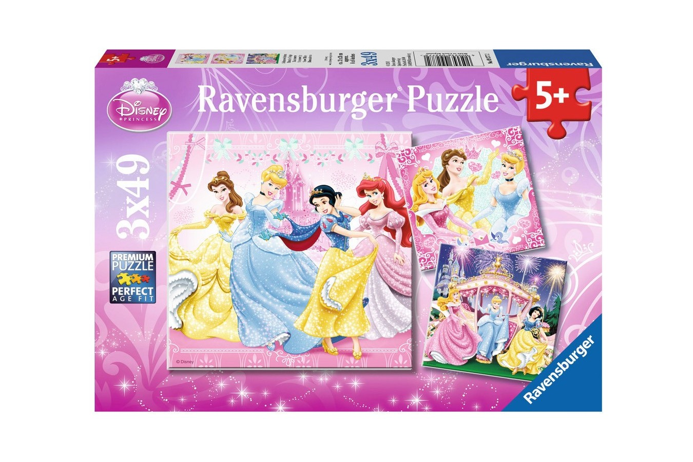 Puzzle Ravensburger - Alba Ca Zapada, 3x49 piese (09277)