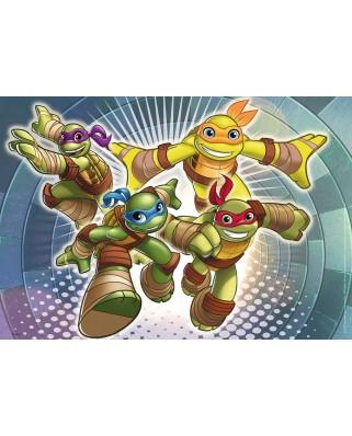 Puzzle Ravensburger - Testoasele Ninja In Actiune, 2x12 piese (07597)