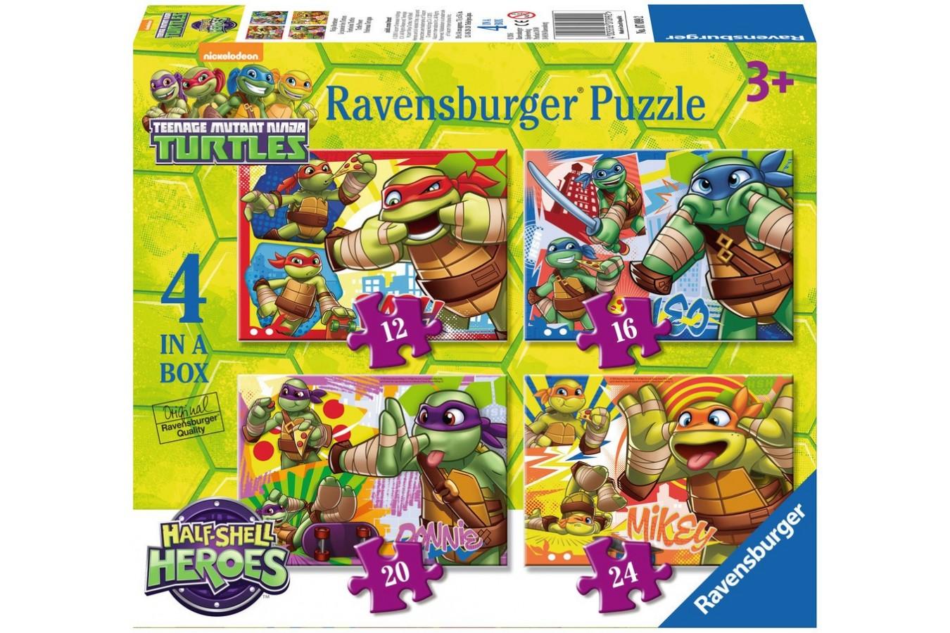 Puzzle Ravensburger - Testoasele Ninja, 12/16/20/24 piese (07099)