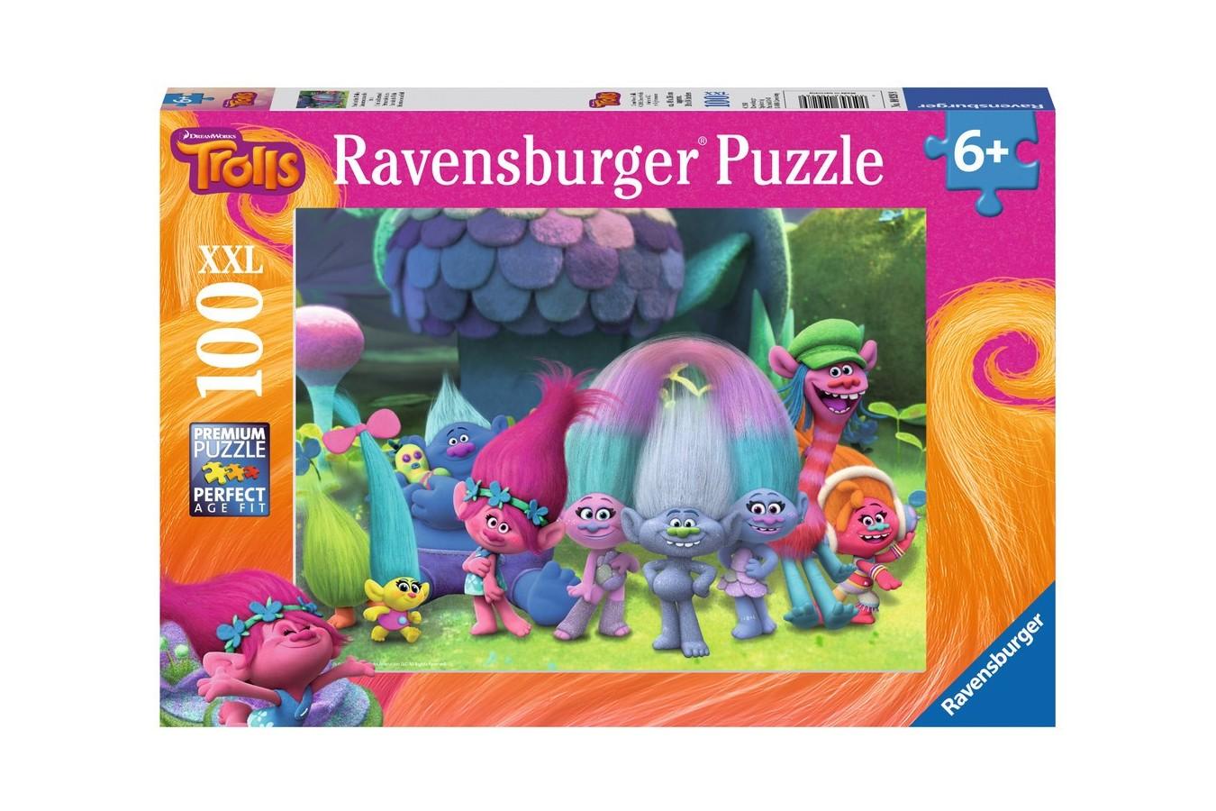Puzzle Ravensburger - Trolls, 100 piese (10928)