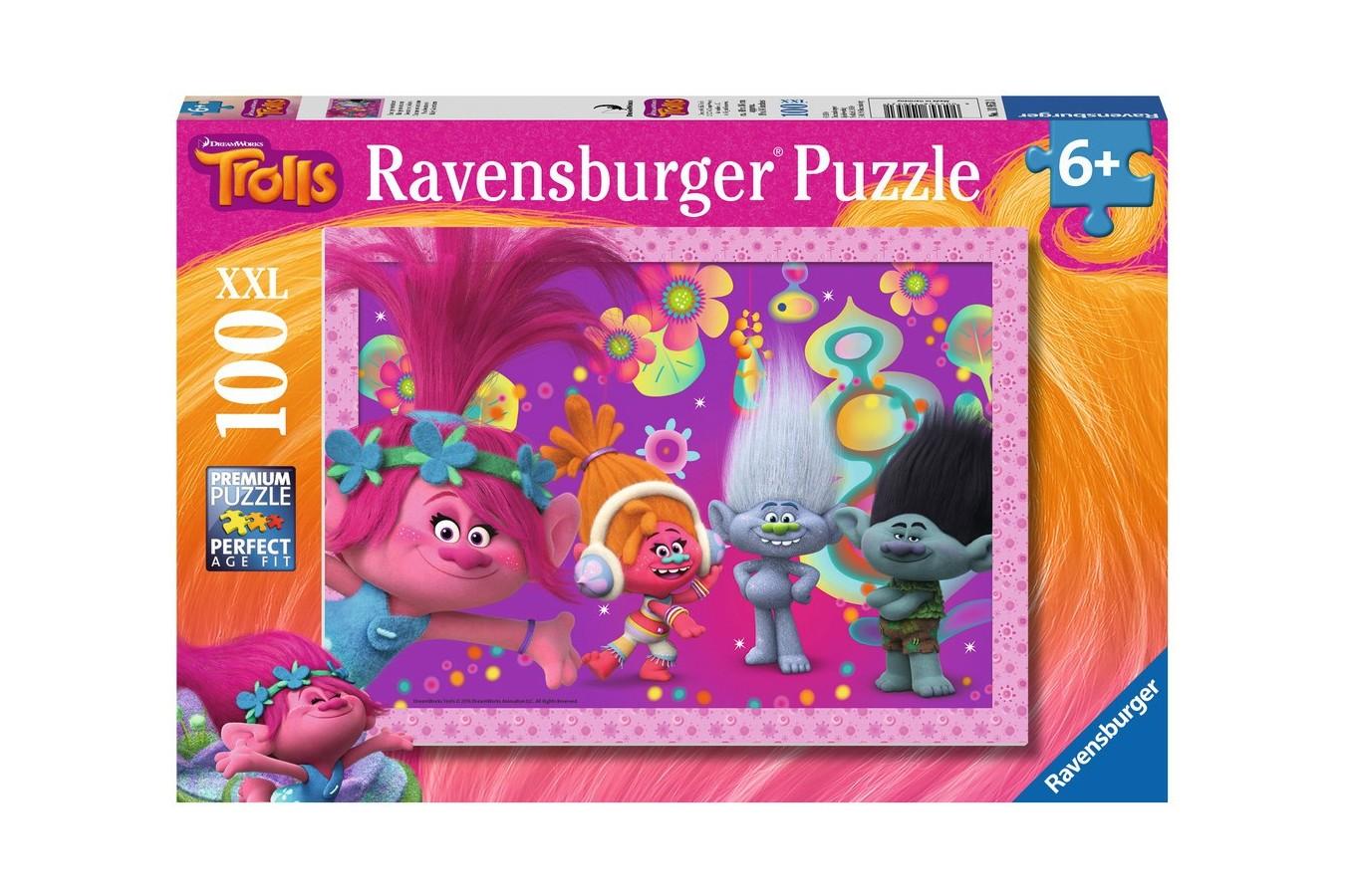 Puzzle Ravensburger - Trolls, 100 piese (10953)