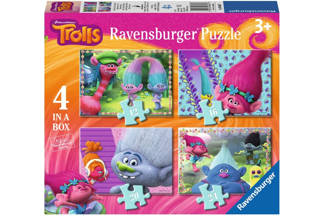 Puzzle Ravensburger - Trolls, 12/16/20/24 piese (06864)