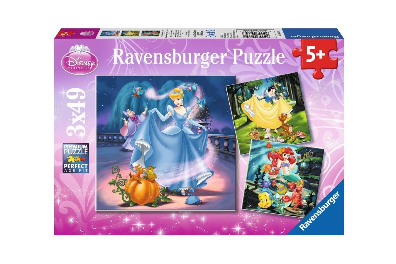 Puzzle Ravensburger - Alba Ca Zapada, 3x49 piese (09339)