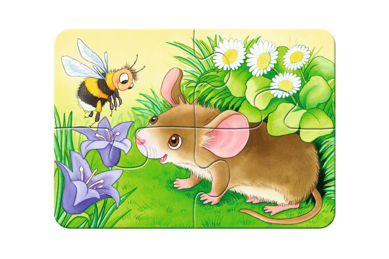Primul Meu Puzzle Ravensburger - Animale Din Padure, 2/4/6/8 Piese