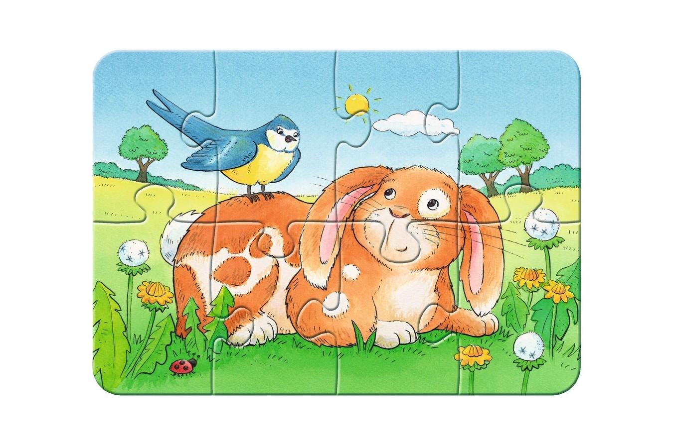 Primul Meu Puzzle Ravensburger - Animale, 2/4/6/8 Piese